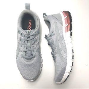 ASICS Gel Quantum 90 Running Sneaker Grey Pink 9